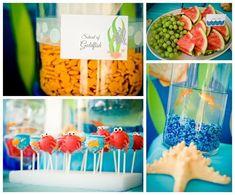 under the sea party decorations | Under the Sea Water Party via Kara's Party Ideas Kara'sPartyIdeas.com ...