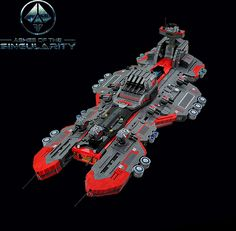 """Ashes of the Singularity is a real-time strategy game set in a future where the technological Singularity and advanced """"Post Humans"""" wage war against each other for the resource Turinium. Gilcelio Chagas has built a LEGO version of the Prometheus, a Post-Human Coalition capital ship that features in the game. The shaping of this ship …"""