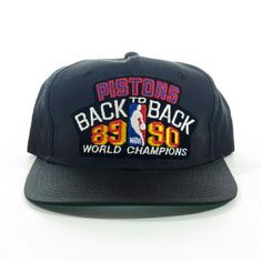 Detroit Pistons 89-90 Back to Back rare snapback Detroit Pistons 89-90 Back  to Back Rare Snapback vintage Hat Ask for an extra bundle discount the more  ... fa30062b04cd