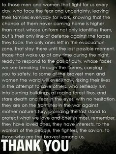 Thank a Firefighter.