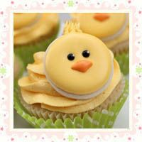 Cute Little Chick Cookie Cupcakes  from: sweetsugarbelle.com via cupcakesgarden.com