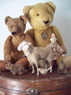 Teddy Bears, Schoenhut Circus Clown and other toys...Photo by Maike Coates.