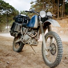 Adventure motorcycles: bars and headlights