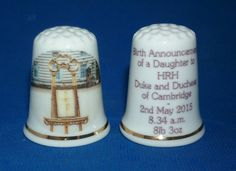 WILLIAM & KATE - ROYAL BABY CHARLOTTE THIMBLE - Palace Announcement Notice