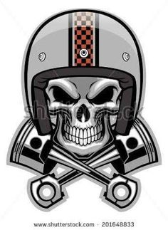 Resultado de imagem para tattoo caveira motorcycle old school