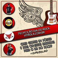 Em comemoração ao Dia Internacional do Rock, a Vitrola.com.br traz uma MEGA PROMOÇÃO para quem curte o bom e velho Rock'n'Roll!! - Curta a Fanpage Vitrola - Curta e Compartilhe a postagem em modo público, marcando o nome da sua banda favorita - Cadastre-se para o sorteio no link que está no corpo da postagem - O sorteio será realizado no dia 13 de julho, às 17:00hs Link para participar o sorteio: sorteiefb.com.br/tab/promocao/466874 Boa Sorte e Muito Rock! #RocknRoll #Dia13dejulho…