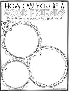 Being A Good Friend Positive Behavior Support, Emotional Child, School Social Work, Guidance Lessons, School Counselor, Reading Comprehension, Social Skills, Writing Prompts, Counseling