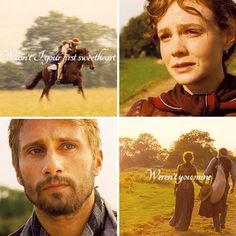 Far From The Madding Crowd ~ I love this part.  He's on the verge of tears.