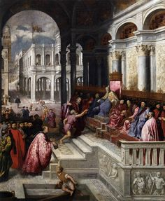 Paris Bordone : The Presentation of the Ring (Galleria dell Accademia - Venice  (Italy - Venice)) 1500 -1571 パリス・ボルドーネ