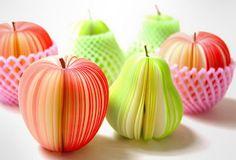 Post-it en forma de frutas