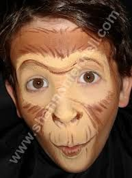 Bildergebnis für monkey face paint images - Famous Last Words Wizard Of Oz Play, Wizard Of Oz Musical, Aladdin Musical, Up Halloween, Halloween Makeup, Monkey Makeup, Monkey Face Paint, Monkey Costumes, Flying Monkey Costume