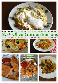 Favorite Olive Garden Recipes to Recreate at Home - More than 25 Olive Garden Copy Cat recipes. #copycat #olivegarden