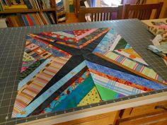 Creating A String Quilt String Quilts have a long tradition. Since they use small strips (strings) of fabric, they are a good . String Quilts, Fabric Scraps, Stitch, Traditional, Blanket, Rugs, Create, Spider, Quilting