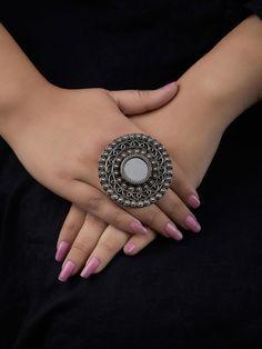 Pre-owned Sterling Silber Schmuck Indian Jewelry Earrings, Jewelry Design Earrings, Silver Jewellery Indian, Silver Earrings, Silver Jewelry, Silver Ring, Diamond Jewelry, Silver Necklaces, Mirror Jewellery