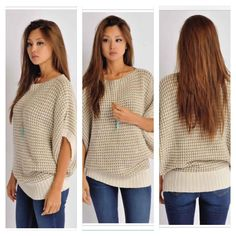 ***RESTOCK*** Beige Knitted Sweater  Arrives Friday  TO BUY: Comment with your email address, and you'll receive a secure checkout link.  Price: $42.00 including domestic shipping. Options: [SmallMedium x3 / MediumLarge x3]. Comment #subscribe + your email address to subscribe to instant updates via email when I post new products! Instagram selling powered by @spreesyco #spreesy | #instaSale #instaShop