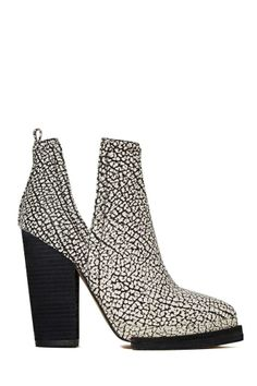Jeffrey Campbell Who's Next Leather Boot - Black/White