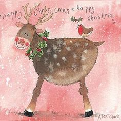 Alex Clark... Christmas Pack Of 5 Cards