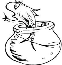cat in the hat fish coloring pages