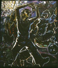 'England's Feeling The Strain' oil on canvas, 210 x 180cms, 1996-97