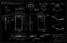 iphone 5 technical drawing