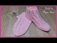 Tığ İşi Çeyizlik Patik - Patik Modeli - YouTube Slippers, Socks, Youtube, Fashion, Sneaker, Moda, La Mode, Fasion, Fashion Models