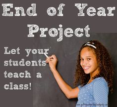 Great idea for an end of school year project!