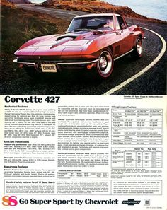 1967 Chevy Corvette Ad #chevroletcorvettevintage