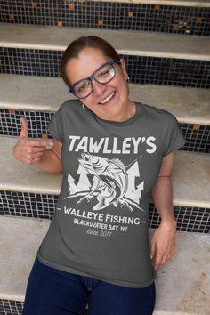 ec4a890f2 Women's Personalized Fishing T-Shirt Fisherman Trip Walleye Fishing Shirt  Expedition Tee Shirt Men's Gift
