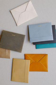 Anve : leather envelopes