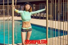 "Wonder Girls' Yubin Shows Her Perfect Physique with ""Cosmopolitan"" Wonder Girl Kpop, Yubin Wonder Girl, Wonder Girls Members, Bh Entertainment, Perfect Physique, Hyuna, Girl Bands, Bikini Bodies, Bikini Fashion"