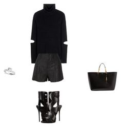 """""""Untitled #9213"""" by explorer-14576312872 ❤ liked on Polyvore featuring Public School, Alice + Olivia, Yves Saint Laurent and Giuseppe Zanotti"""