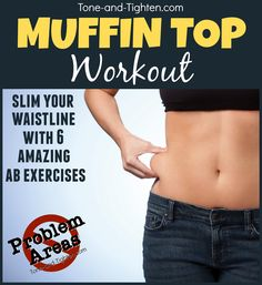 """""""Problem Areas"""" Series - How to get rid of your muffin top - Lose your muffin top with this at home workout! - Fitness Little Abs Workout Video, Abs Workout For Women, Fitness Tips, Fitness Motivation, Health Fitness, Workout Fitness, Fitness Shoes, Fitness Gear, Slimming World"""