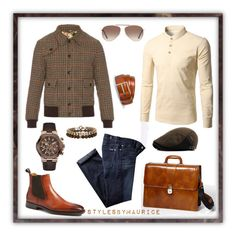 """""""Men's Casual Street Wear"""" by mauricee-brewer on Polyvore featuring Bosca, Gucci, Magnanni, Paul Smith, Gc, ALDO, Tom Ford, 7 For All Mankind, men's fashion and menswear"""