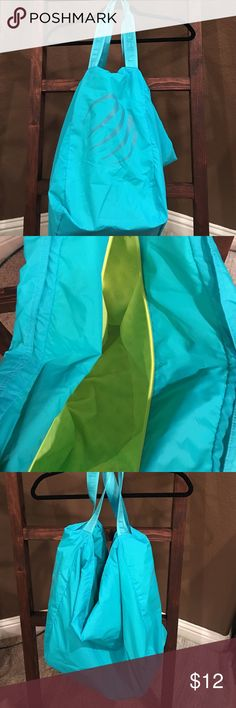 Gym Bag Gym Bag - Teal with lime green lining Bags Travel Bags