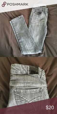 Girls grey DKNY denim jeans Grey slim fit DKNY jeans in like new condition DKNY Bottoms Jeans