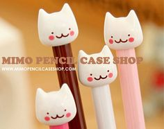 There's a new shop in town that loves it too! MIMO Pencil Case Shop sells all things Kawaii! We offer pencil cases, pencil pouches, pen. Fine Point Pens, Fine Pens, Kawaii Pens, Kawaii Cute, Kawaii Stuff, Cute Office Supplies, School Pens, Cute Stationary, Kawaii Stationery