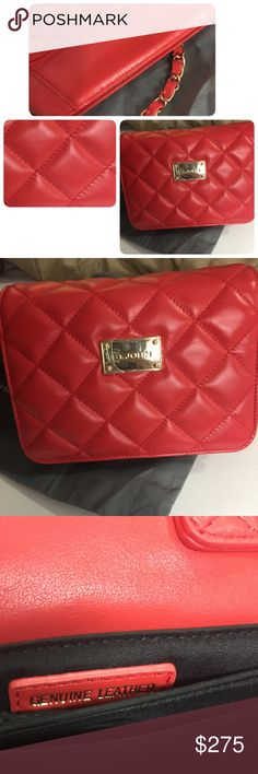 Selling this St. John Collection Quilted Leather Chain Bag Red on Poshmark! My username is: halamalu. #shopmycloset #poshmark #fashion #shopping #style #forsale #St. John #Handbags