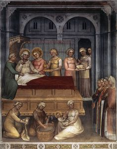 Natività del Battista, 1375-1378,  Battistero del Duomo di Padova / Giusto de' Menabuoi (Firenze, 1330 circa – Padova, 1390 circa)