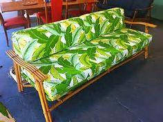 Fifties Bamboo Tiki Furniture - wANt this futon!