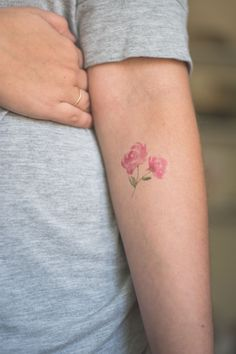 Watercolor Peony Temporary Tattoo Single by magnoliatreepaperie