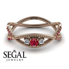 Rose Gold Engagement Ring by Segal Jewelry Elegant Engagement Rings, Halo Diamond Engagement Ring, White Topaz Rings, White Gold Diamonds, Wedding Rings Rose Gold, Rose Rings, Gold Wedding, Ruby Wedding, Dream Wedding
