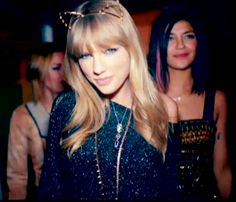 taylor swift cat ears - Not sure why but I think she looks adorable in cat ears!