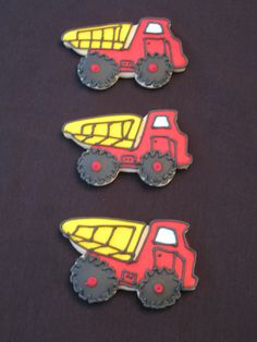 Peanut Free and Tree Nut Free Dump Truck Cookies by Nut Free Sweets. $36.00, via Etsy.