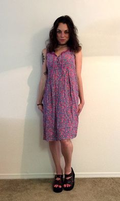 Vintage Floral Dress by MerlotMami on Etsy #vintage #hipster #dress #floral #pink  #softgrunge #grunge #80s #festival