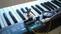 How to Make an Arduino Sound Synthesizer With MIDI Interface: 8 Steps Diy Electronics, Electronics Projects, Midi Piano, Cool Arduino Projects, Rasberry Pi, Raspberry, Arduino Shield, Arduino Board, Circuit Design