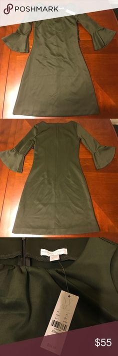 Olive Green Dress. New York and Co. Size XS. NY & Co. Dresses Midi