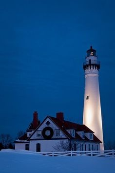 Wind Point Lighthouse  Wisconsin US