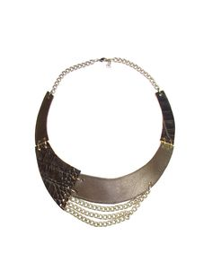 Dark Brown Leather Necklace - Bib Necklace - genuine leather by FILIZASLI on Etsy https://www.etsy.com/listing/130096136/dark-brown-leather-necklace-bib-necklace
