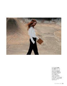 Johanna Fosselius by Shunya Arai for Elle Japan August 2013