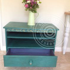Hand painted unit using quality chalk paint and waxed, with hand painted detail. www.facebook.com/BureChic. £65